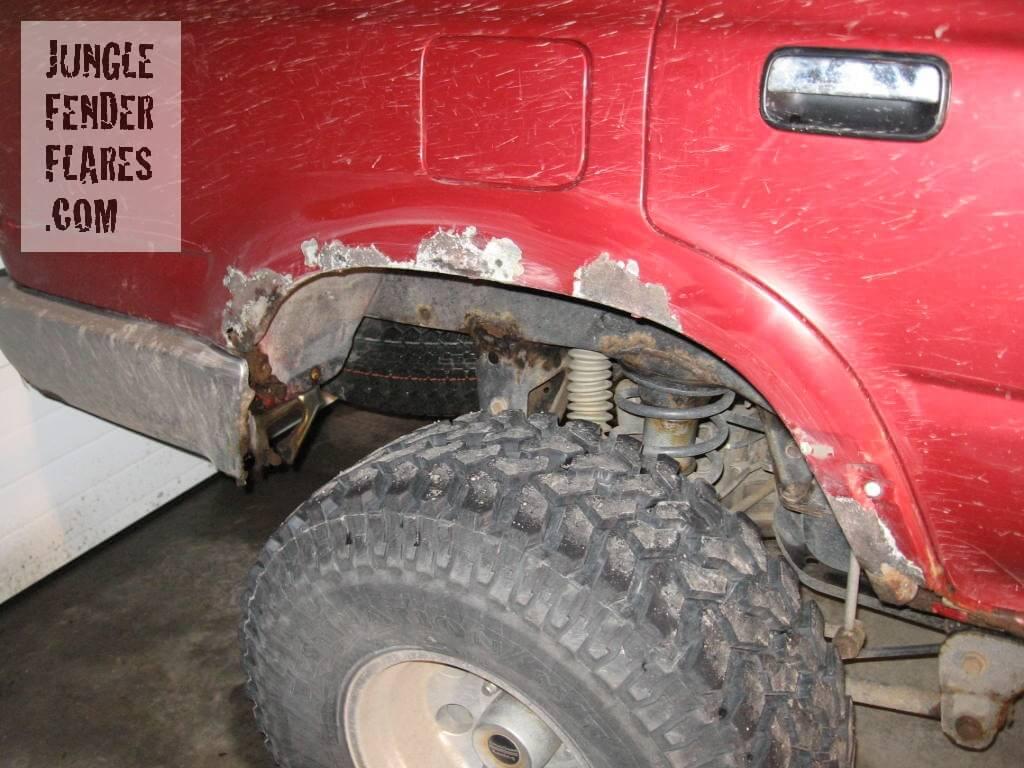 Before Shot -Toyota 4runner fender flares rear