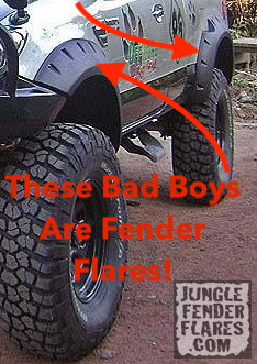 These are fender flares!